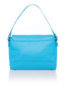 Pebble blue satchel bag