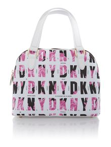 Coated logo pink mini satchel bag