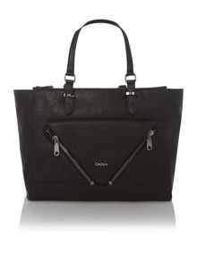 Pebble black tote bag