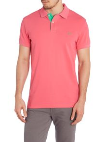 Contrast Collar Polo Shirt