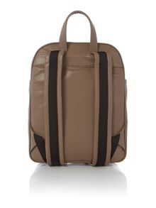 Metal letters tan backpack bag