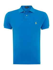 Slim Fit Basic Mesh Polo