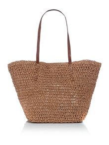 Addict brown shopper bag