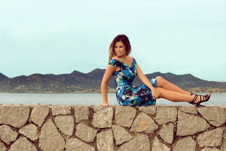 Jessica Wright Sleeveless racer neck floral bodycon dress