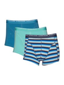 Bjorn Borg 3Pk Stripe And Block Colour Trunk
