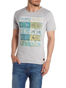 Print Crew Neck Slim Fit T-Shirt