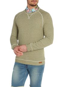 Ribbed Crew Neck Pull Over Jumper