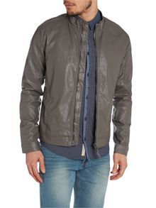 Casual Full Zip Biker Jacket