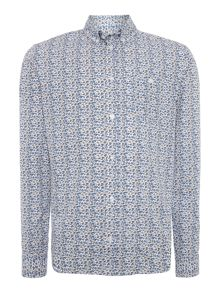 Casual Friday Print Long Sleeve Button Down Shirt