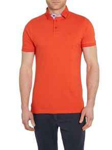 Casual Friday Plain Grandad Collar Slim Fit Polo Shirt