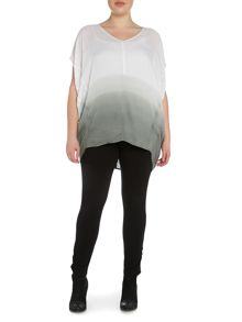Plus size dip dye cocoon top