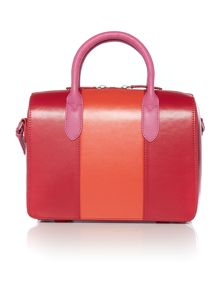 Bloomsbury colourblock pink small round tote bag