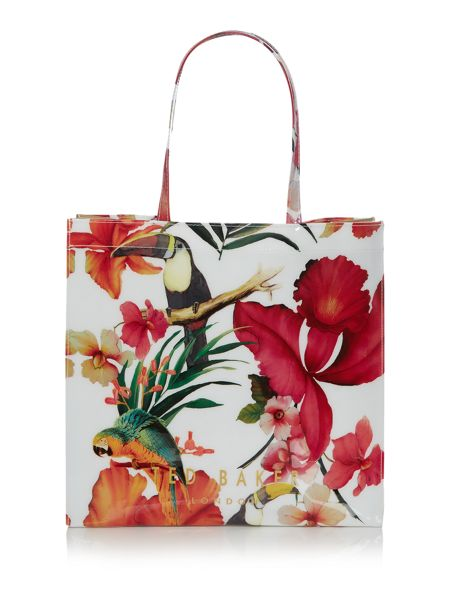 Ted Baker Multi-coloured tropical toucan large bowcon tote