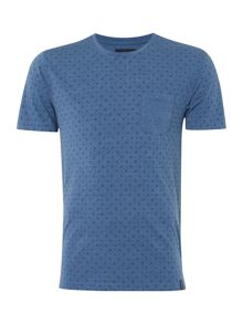 Jacob Geo Print Pocket T-Shirt