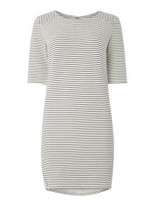 Y.A.S. Shortsleeved stripe dress