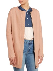 ow zip front coat