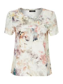Short sleeve floral print top