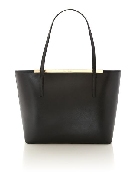 Ted Baker Black printed lining tote bag with pouchette