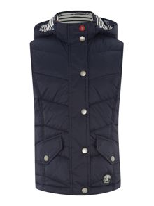 Foreland funnel neck quilted gilet