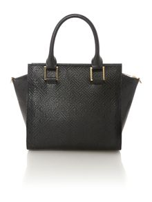 Black small detachable clutch tote bag