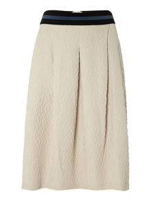 Y.A.S. Textured midi skirt