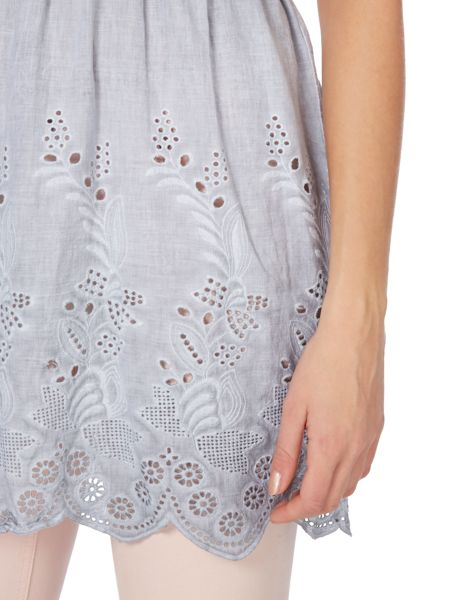 Oui Broderie layer dress