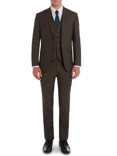 Corsivo Verulo Pin Dot Notch Collar Tailored Suit Jacket