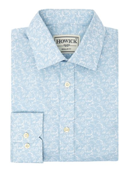 Howick Tailored Farndale Floral Print Shirt
