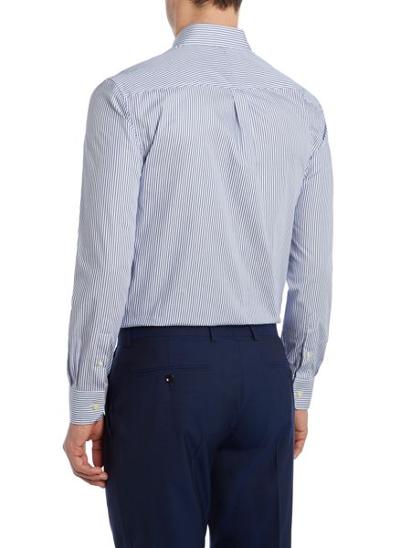 Howick Tailored Arvin Strpe Shirt With Classic Collar