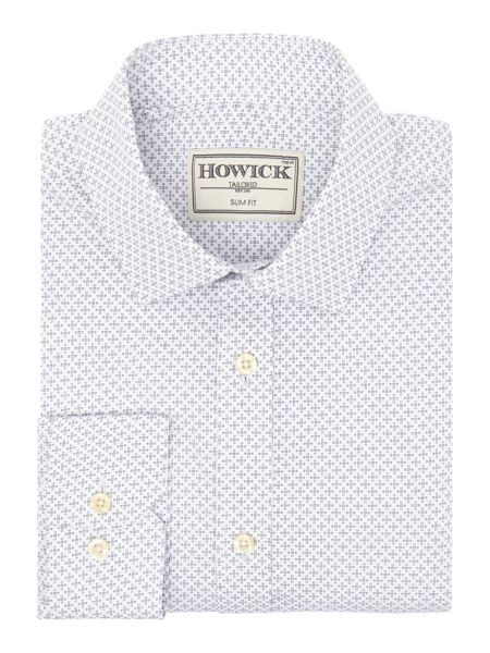 Howick Tailored Dolton Silm Fit Geo Print Shirt