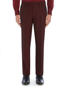 Plain Slim Fit Suit Trousers