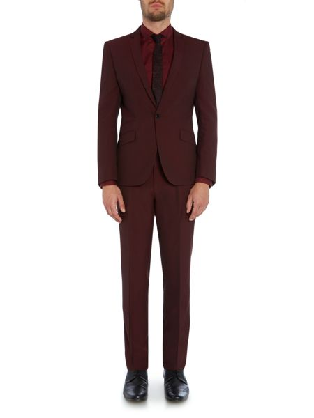 Kenneth Cole Plain Slim Fit Suit Trousers