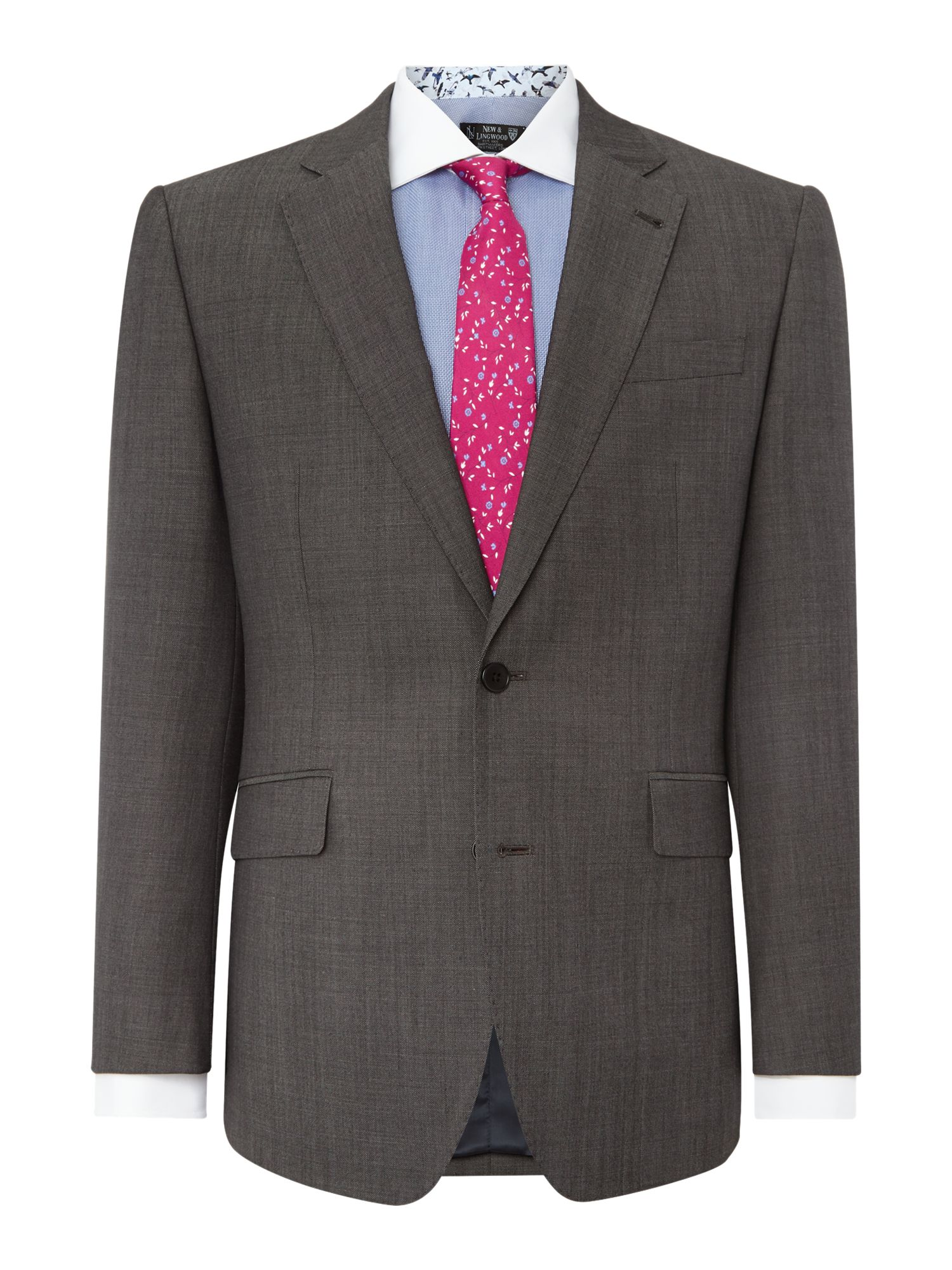 New & Lingwood Men's New & Lingwood Frockland Plain Tailored Fit Suit Jacket, Grey
