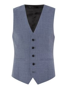 Kenneth Cole Sheldon Slim Fit Textured Suit Waistcoat