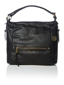 Lauren black large hobo bag