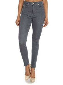 Lee Skyler highwaist skinny jean in clean grey