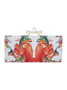 Multi-coloured tropical crystal frame matinee