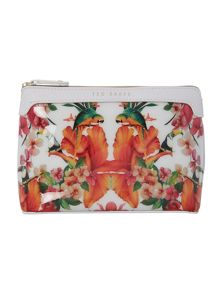 Alsace multi-coloured tropical cosmetic bag