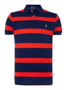 Stripe Polo Regular Fit Polo Shirt