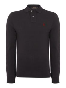 Polo Ralph Lauren Plain Polo Shirt Long Sleeve Slim Fit