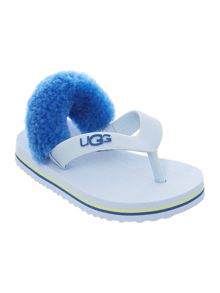 Newborn stripe sheepskin flipflop