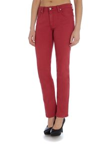 Lee Marion straight fit jean in framboise