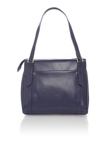 Chelsea navy medium ziptop tote bag