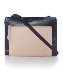 Clerkenwell navy medium crossbody bag