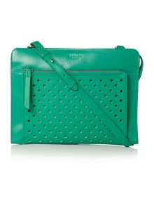 Clerkenwell punch green medium crossbody bag