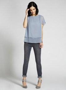 Bluebell Pleat Shoulder Tee