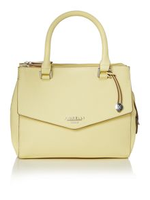 Mia yellow small cross body tote bag