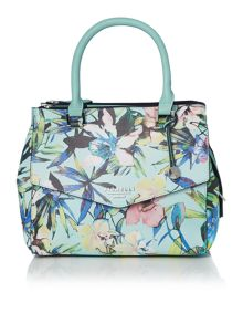 Mia multi coloured small cross body tote bag