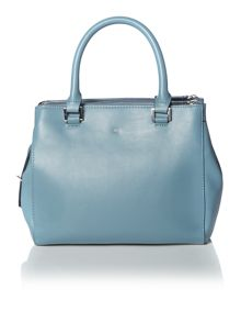 Mia blue small cross body tote bag