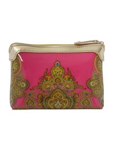 Noney pink paisley small cosmetic bag